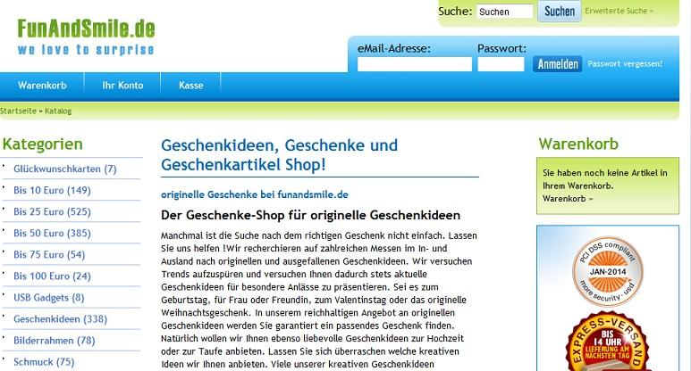 Geschenkideen auf funandsmile.de